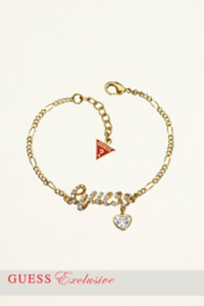 SMALL PAVE RIBBON LOGO BRACELET