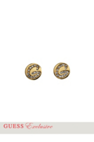 Gold-Tone Round Post Earrings
