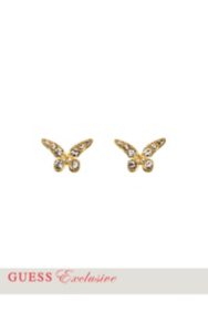 Gold-Tone Butterfly Post Earrings