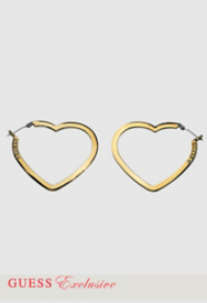 Flat Open Heart Hoop Earrings