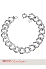 Silver-Tone Curb Chain Necklace