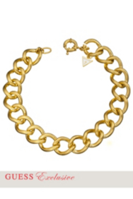 Yellow Gold-Tone Curb Chain Necklace