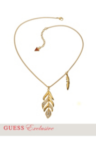 Gold-Tone Feather Pendant Necklace