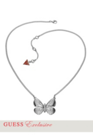 Silver-Tone Butterfly Necklace