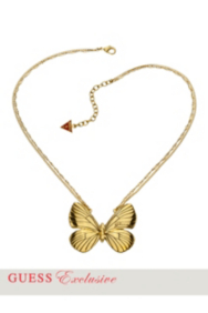 Gold-Tone Butterfly Necklace