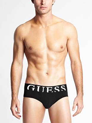 Stretch cotton jersey gives you an ultra-comfortable fit with this versatile brief.       • Elastic waistband with logo • Seamed pouch front. Seamless back for comfort.  • 95% Cotton, 5% Elastane • Machine wash