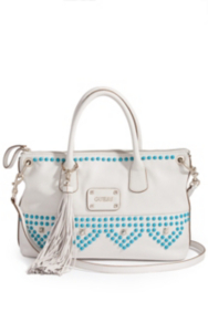 Pavilla Satchel with Solid-Color Studs