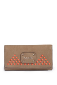 Pavilla Slim Clutch with Solid-Color Studs