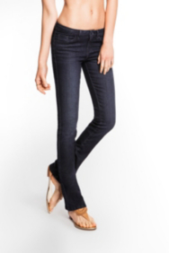 "Brittney Petite Bootcut Jeans in CRX Wash, 31 ½"" Inseam"
