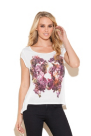 Mirrored Floral Top