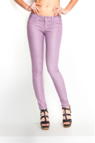 Power Skinny Glitz Colored Jeans