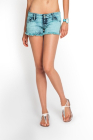 Kate Cut-Off Colored Denim Shorts