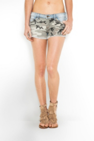 The Festival Collection - Kate Camo Cutoff Shorts