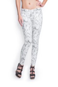 Brittney Ankle Skinny InBloom Printed Jeans
