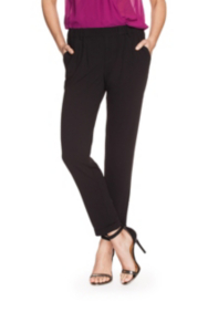 Tara Crepe Pull-On Trousers