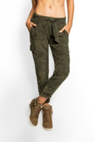 Juliana Camo-Print Cargo Pants