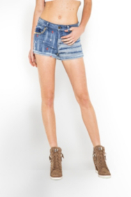 The Festival Collection - Americana Cutoff Denim Shorts