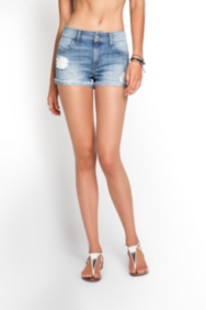 Scarlet Relaxed Denim Shorts in Old School Wash