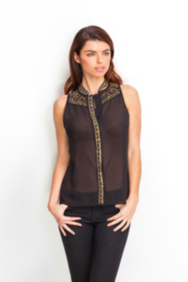 Simona Sleeveless Embellished Top