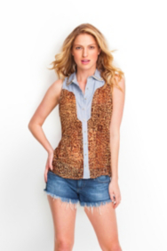 The Festival Collection - Leopard Mixed Top