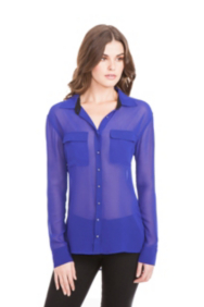 Eva Long-Sleeve Contrast Shirt
