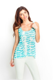 Abstract Print Boyfriend High-Low Tank