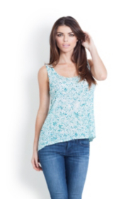 Boyfriend High-Low Tank in Geo Print