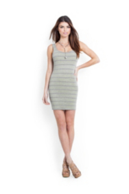 Contrast-Stripe Tank Dress