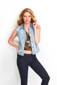 Suzette Denim Vest