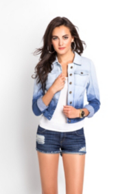 Brittney Dip-Dyed Denim Jacket