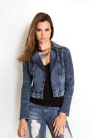 The Festival Collection - Americana Moto Zip Denim Jacket