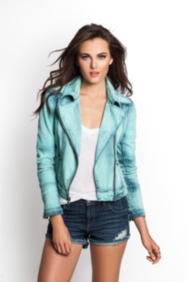 Classic Biker Denim Jacket