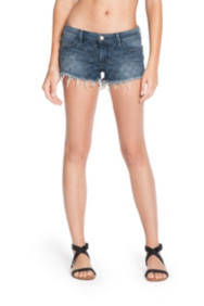 Kate Cutoff Denim Shorts with Stitching