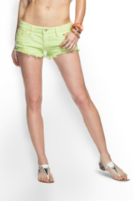 Kate Frayed Denim Shorts