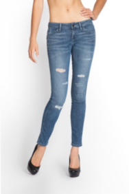 Brittney Ankle Skinny Repaired Jeans