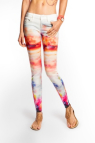 Brittney Ankle Skinny Digital-Print Jeans