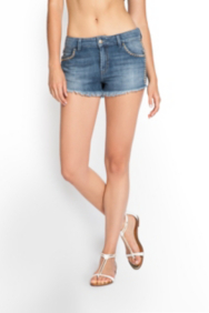 Scarlet Cutoff Denim Shorts with Studs