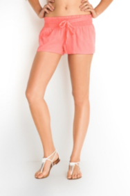 Smocked-Waistband Gauze Shorts