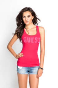 Sequined Logo Tank