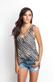 Zebra-Print Boyfriend High-Low Tank