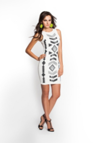 Aztec Caviar-Beaded Dress