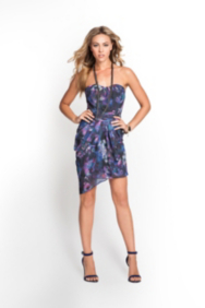 Strapless Bombay Floral Dress
