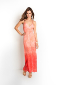 Dyed Georgette Maxi Dress
