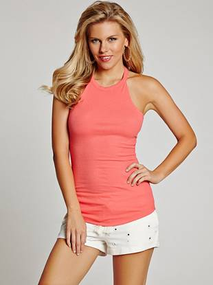 A modern twist on the basic tank—this top is a need-now closet essential. Wear it solo to show off the sexy racerback or layer it under a jacket for a stylish laid-back look wherever you go.