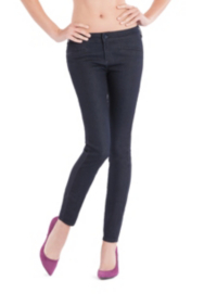 Moto Glam Skinny Jeans with Rinse