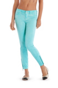 Brittney Ankle Skinny Pants with Zip