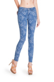 Floral Jacquard Brittney Denim Leggings