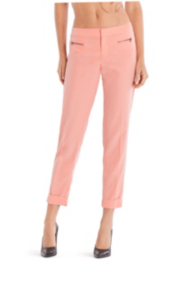 Easy Front-Zip Capri Pants