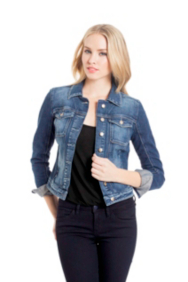 Brittney Denim Jacket in Rydell Wash