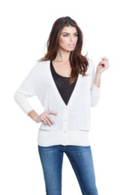 Cocoon Georgette Mixed Cardigan